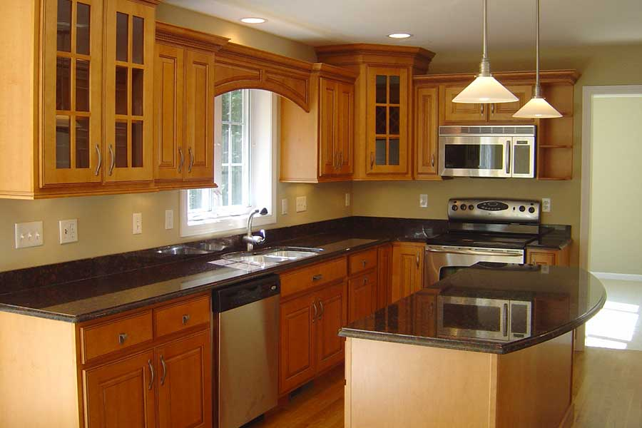 Teak Wood Wooden Kitchen Cabinets