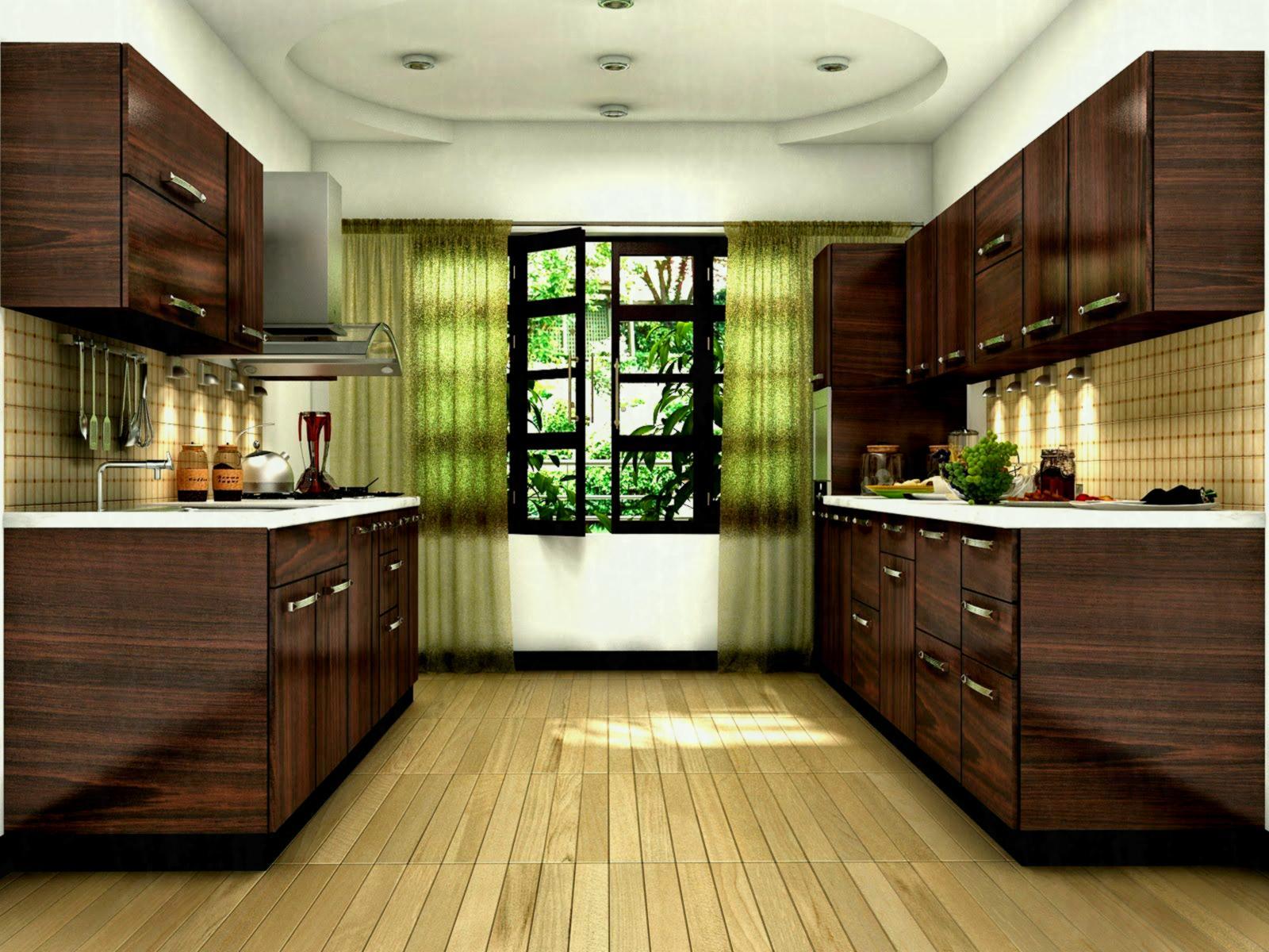 Belinda Kitchen Traditional Kerala Style Kitchens; Low cost wooden Kitchens; Kitchen using teak doors and teak cabinets. Kitchen using teak door and laminated kitchen